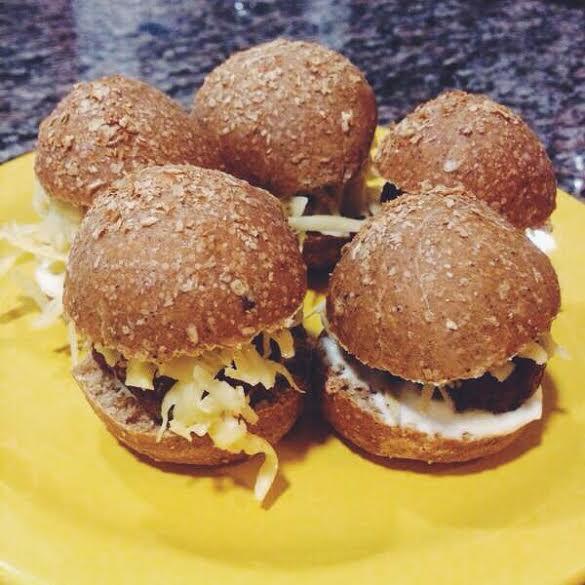 receita, gourmetice, mini, hamburgueres, hamburger, hamburguer, burger, provolone