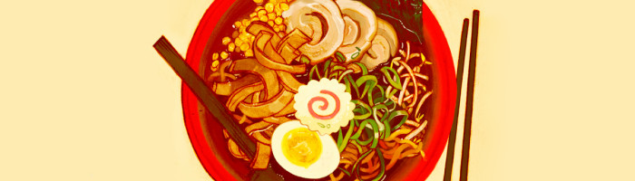 notícia, extra, gourmetice, ilustrações, sarah gonzales, ramen room, culinária chinesa