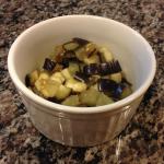 receita, ouef en cocotte, ovo, francês, beringela, presunto culatello