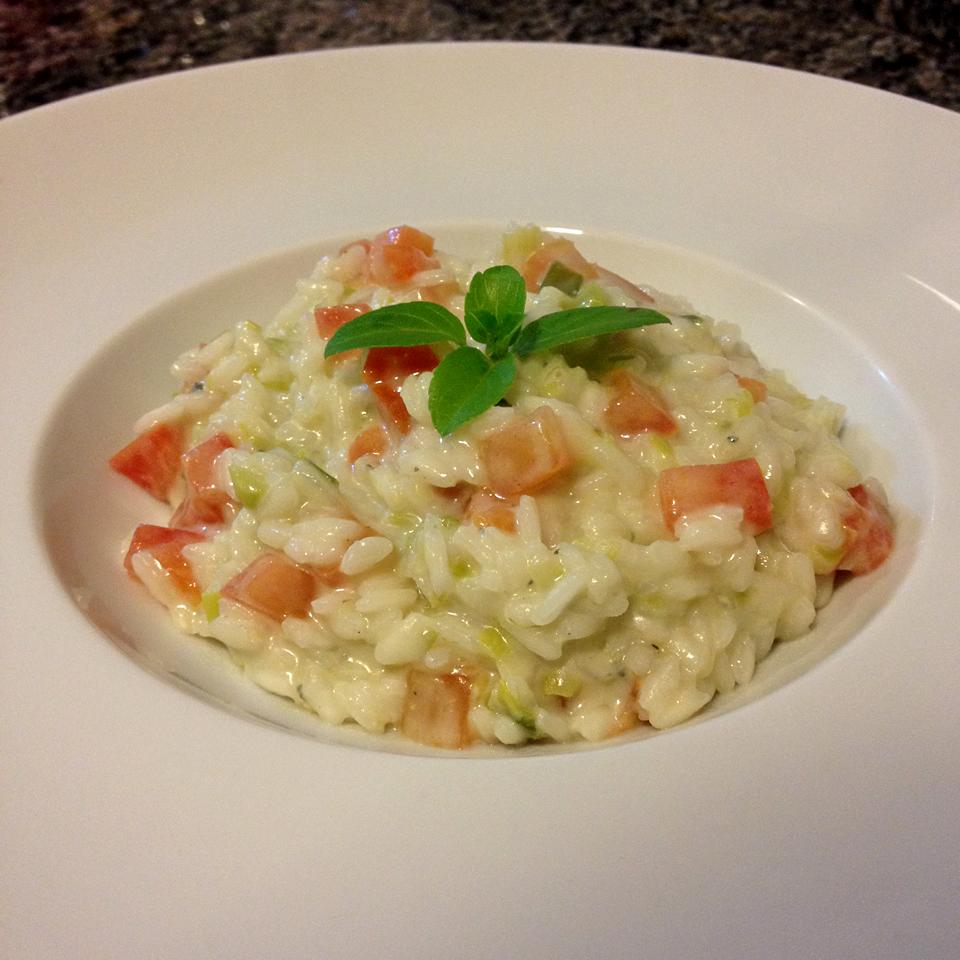 receita, gourmetice, risoto, alho poró, tomate italiano, gorgonzola