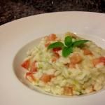 Risoto de Alho Poró com Tomate Italiano e Gorgonzola