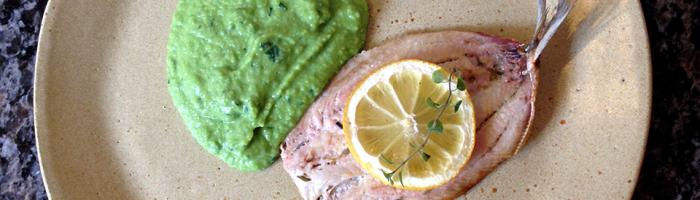 notícia, gourmetice, sardinha assada, limão siciliano, purê, ervilha