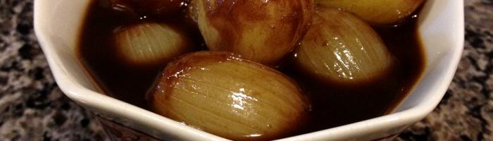 receita, gourmetice, mini cebolas, caramelizadas, vinagre balsâmico