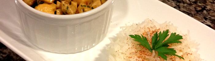 receita, gourmetice, frango indiano, arroz basmati