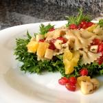 Salada Refrescante de Alface Frisé com Farfalle
