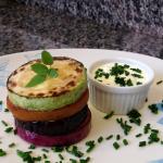 Torre de Legumes e Sour Cream