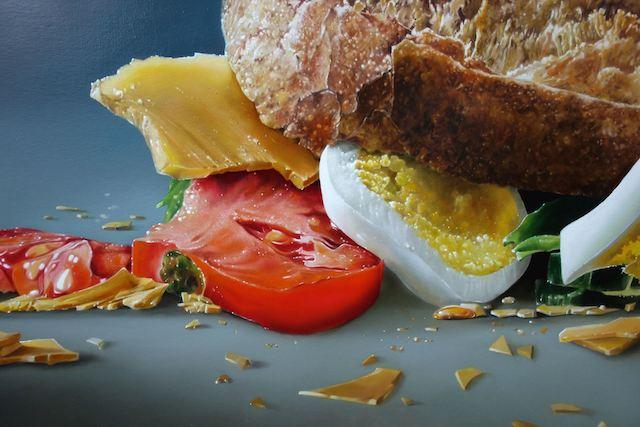notícia, extra, gourmetice, pinturas, hiper-realistas, holandês, tjalf sparnaay, comidas