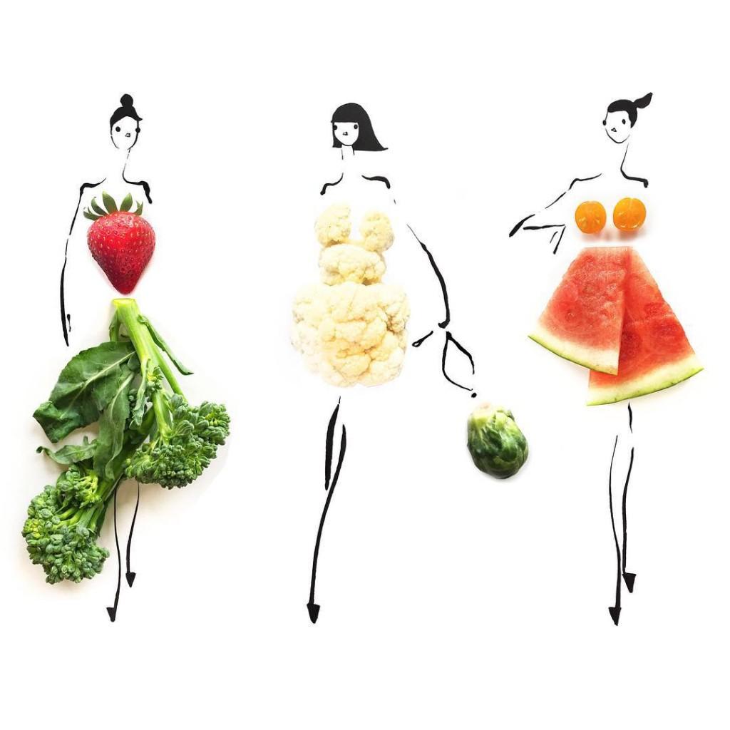 notícia, extra, gourmetice, croquis, nanquim, alimentos, comida, gretchen röehrs, food art