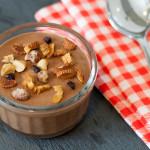 Mousse de Chocolate com Mix de Oleaginosas e Frutas Desidratadas