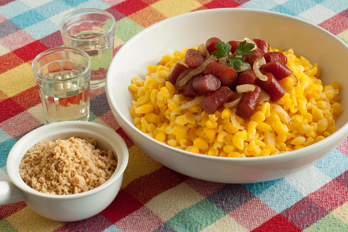 receita, gourmetice, canjica, linguicinha, cebola, cachaça, paçoca, são joão, festa junina