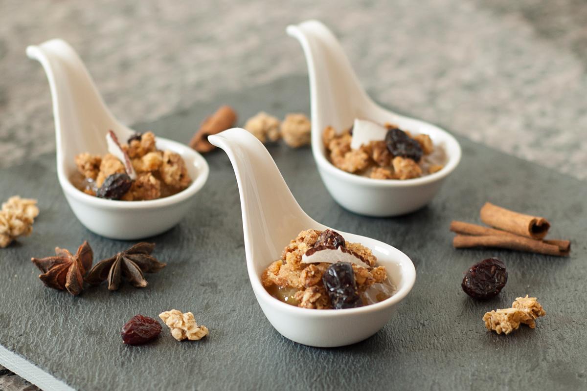 receita, gourmetice, crumble, banana, granola, cranberry rocks, made in natural