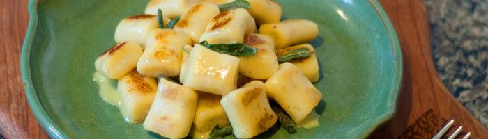 receita, gourmetice, nhoque, batata-doce, molho, manteiga, sálvia, ervas