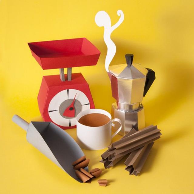 notícia, extra, gourmetice, esculturas, comida, papel, maria laura benavente sovieri, papercraft, food