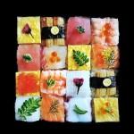 Mosaico de sushi, a nova tendência no Japão