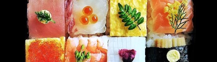 notícia, gourmetice, mosaico, sushi, comida, japonesa, japão