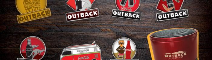 notícia, gourmetice, outback, outback steakhouse, coca-cola, promoção, colecione momentos, pins, caixa de som, bluetooth
