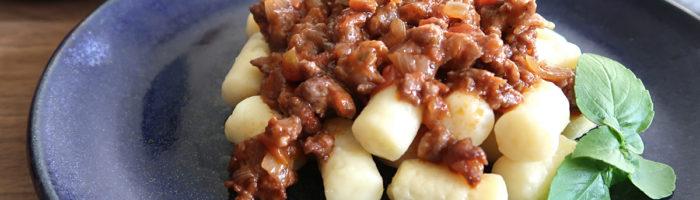 receita, gourmetice, nhoque, batata, ragu, linguiça, cordeiro, vinho, malbec, linguiçaria premium, porto alegre, poa, rs