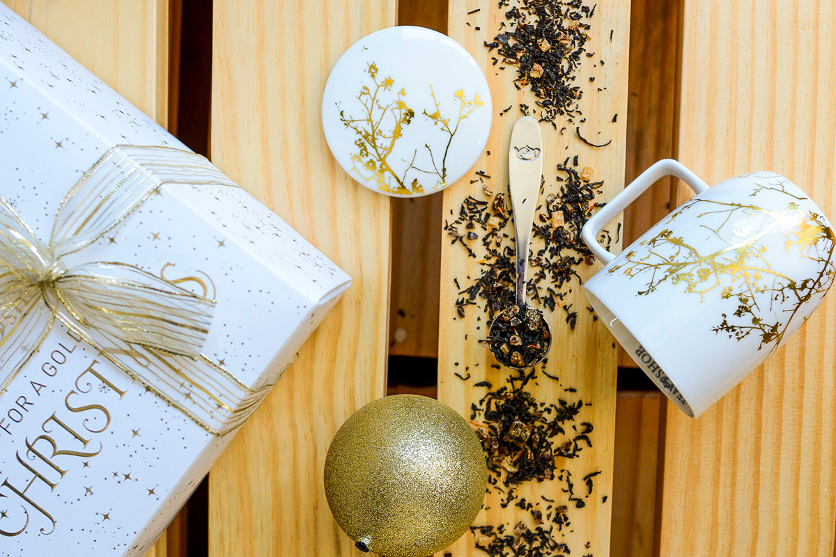 notícia, gourmetice, tea shop, chá, dourado, glamour, natal